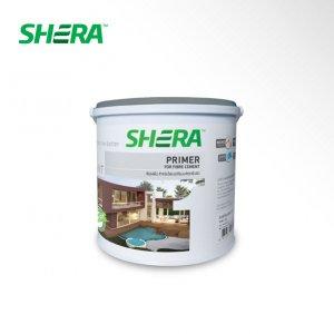 Shera สีรองพื้น ไฟเบอร์ซีเมนต์ สีเทา-1gl.
