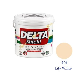 Delta Shield สีน้ำอะครีลิค 201 Lily White-1gl.