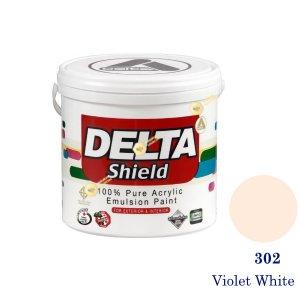 Delta Shield สีน้ำอะครีลิค 302 Violet White-1gl.