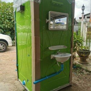 ห้องน้ำ ไฟเบอร์กลาส แบบสำเร็จรูป สำหรับใช้ภายนอก ใช้งานชั่วคราว1
