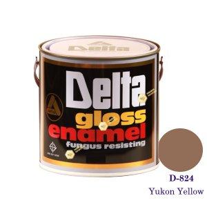 DELAT GLOSS ENAMEL สีเคลือบน้ำมัน D-824 Yukon Yellow