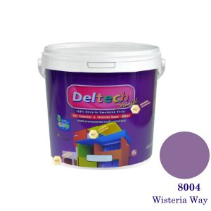 Deltech สีน้ำอะครีลิคกึ่งเงา SG-8004 Wisteria Way-L (สีเข้ม)