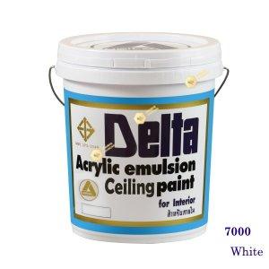 เดลต้า ซีลลิ่งเพนท์ สีน้ำอะครีลิคทาฝ้า 7000 White 5gl.