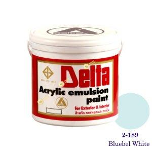 เดลต้า สีน้ำอะครีลิคภายนอก 2-189 Bluebel White 1gl.