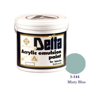 เดลต้า สีน้ำอะครีลิคภายใน 1-144 Misty Blue 1gl.