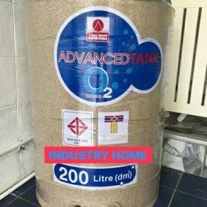 ถังเก็บน้ำ 200 ลิตร รุ่น โอทู สีทราย