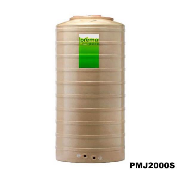 ถังเก็บน้ำบนดิน PREMA สีแซนด์สโตน ขนาด 2000 ลิตร