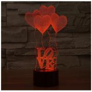 โคมไฟหัวใจ 3D