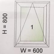 หน้าต่างบานกระทุ้งไวนิล WINDSOR รุ่น Smart Value Max ขนาด 600×800