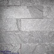 หินตกแต่งผนัง ควอตไซต์ซิลเวอร์เกรย์ Silver Grey Quartzite 6×20 ซม.