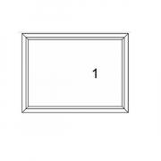 WINDSOR หน้าต่างบานช่องแสงติดตาย ขนาด 590X590 มม.