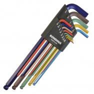 ชุดประแจหกเหลี่ยมตัวแอลหัวบอล ยาวพิเศษ BONDHUS ColorGuard