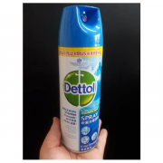 Dettol สเปรย์ฆ่าเชื้อแบคทีเรีย 450 ml กระป๋องฟ้า