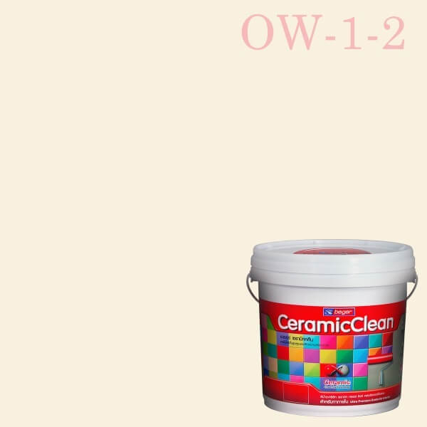 สีน้ำอะครีลิกกึ่งเงา OW-1-2 เบเยอร์เซรามิกคลีน Pale Blossom