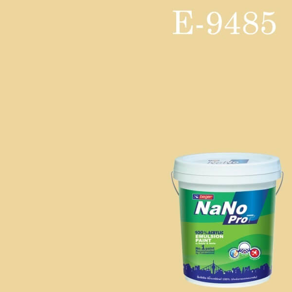 สีน้ำอะครีลิกนาโนโปร E-9485 Happy Ivory