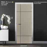 Leowood ประตูไม้เมลามีนiDoor S6 สีSilver Wool ลาย04 80×200ซม.