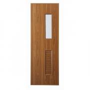 ประตู UPVC แบบบานเกล็ดช่องลมล่าง กระจกบน U14