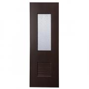 ประตู UPVC แบบกระจกใหญ่ บานเกร็ดล่าง U19 ตรา JF