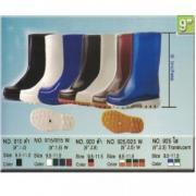 รองเท้าบู้ทยาง PVC ความสูง 9 นิ้ว สีขาว