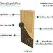 ประตูไม้เมลามีนสำเร็จรูป Lowood